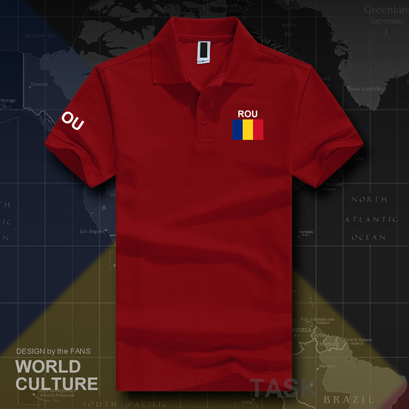 Romania Romanian ROU   polo   shirts men short sleeve white brands printed for country 2017 cotton nation team flag new fashion
