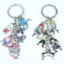 Japan Anime FAIRY TAIL Keychain Keyring 5 in 1 set Alloy Metal Pendants Cartoon Key Ring Cosplay Accessories Collection Gift New(China)