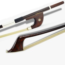 A Gorgeous 3/4 Size Professional Snakewood German Double Bass Bow! Warm and Sweet Tone, Premier Unbleached Mongolia Horse Hair!