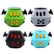 5สีมินิตลกอยู่ไม่สุขCubeปั่นของเล่นโต๊ะของเล่นนิ้วบีบสนุกปลดปล่อยความเครียดมือปั่นAntistress Cubeของเล่น