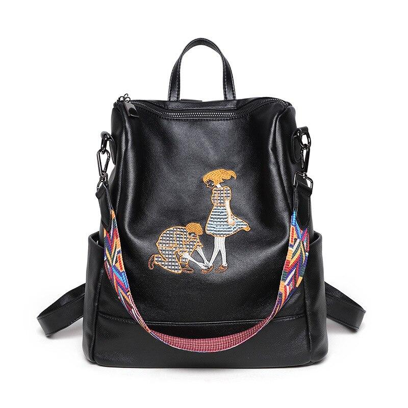 Rucksäcke Mode Weichen Echten Leder Rucksack Schule Taschen Für Jugendliche Mädchen Jungen Tasche Designer Berühmte Paar Paar Liebhaber Pack Mochilas Taille Und Sehnen StäRken