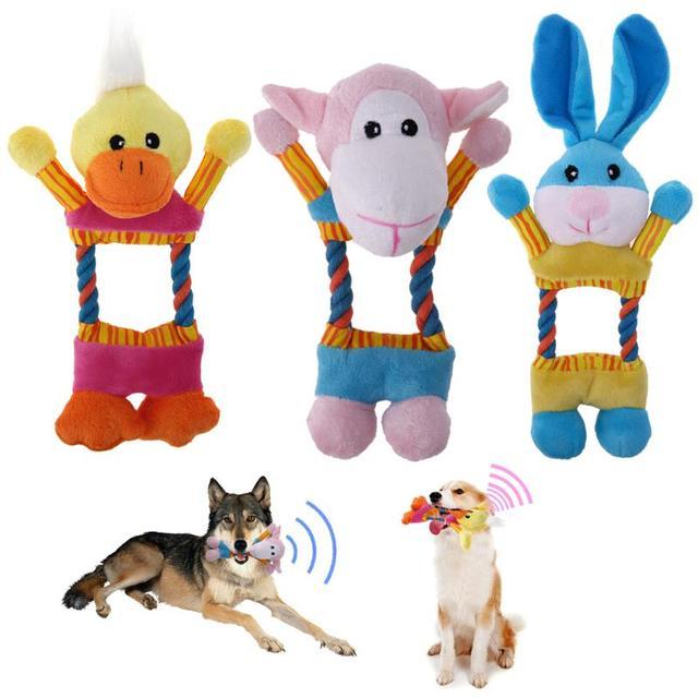 Забавные интерактивные игрушки для собак Детские игрушки плюшевые питомец щенок, звук пищалка игрушка для животных, собак Форма сопротивление укусить