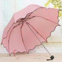 2015 Brand High Quality Umbrella Leather Handle Automatic Umbrella Men Large Strongly Sun Rain Folding Umbrella