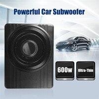10 дюймов 12 в 600 Вт Высокая мощность под сиденьем автомобильный сабвуфер автомобильный динамик ультра тонкий автомобильный аудио активный Sub