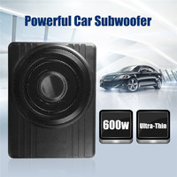 High Power Under Seat Car Active Subwoofer Speaker 10 Inch 12V 600W Black Ultra Thin Car