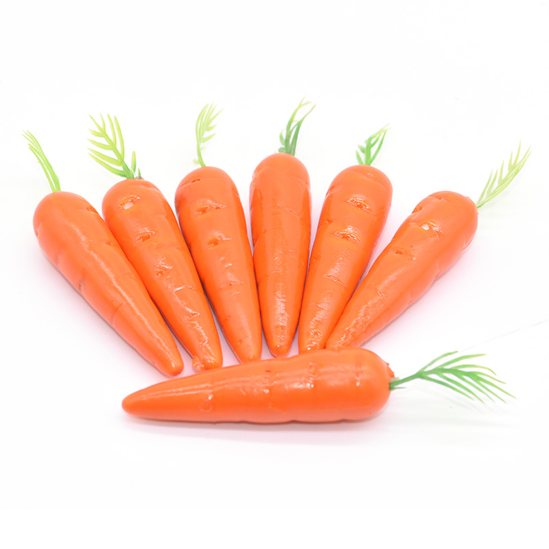 25pcs Easter Bunny Carrot Mini Artificial Plastic Foam Carrots Simulation Vegetables Wedding Christmas Home Kitchen Table Decor