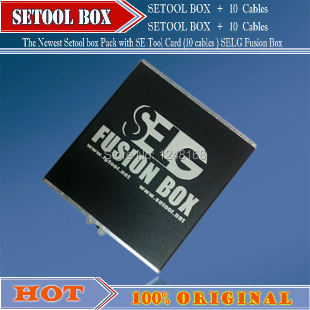 100%original Newest Setool box Pack with SE Tool Card (10 cables ) SELG Fusion Box+Free Shipping