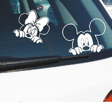 Автомобильная наклейка Микки Маус и Минни Маус комбо наклейка на окна для автомобиля грузовика мотоцикла ноутбука, Ipad, стены(Микки Минни комбо