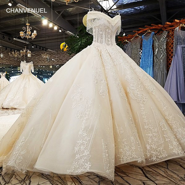 1dc6b6a29c2a LS65392-1 ball gown wedding dresses ivory off shoulder sweetheart lace up  back hand work wedding gown from china free shipping