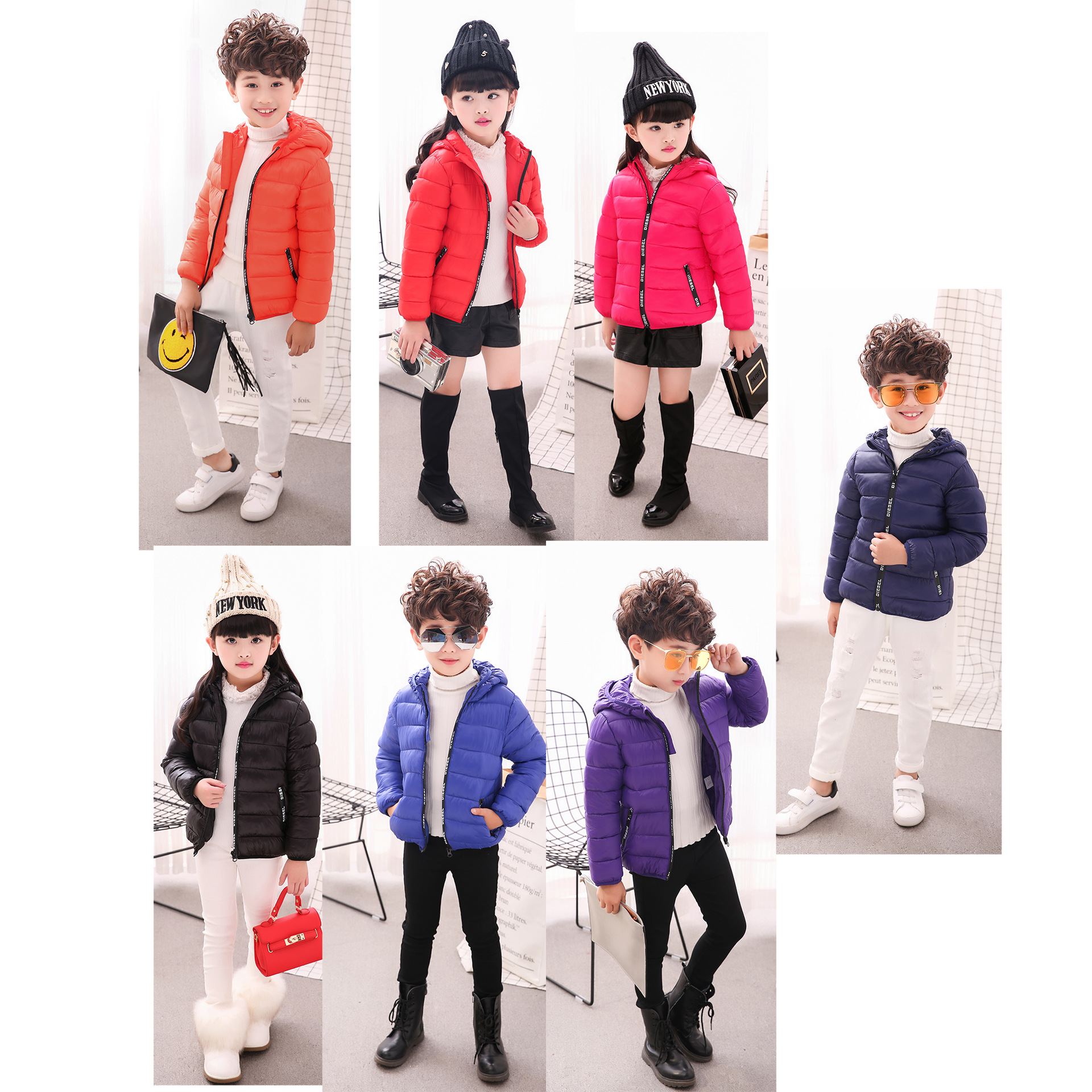 2017 New Products Warm Winter Jacket Children Frivolous Cotton-Padded Clothes Feather Cotton Baby Down Jacket Kid 5-15 Years new winter 2015 women cotton padded clothes draw string of cultivate one s morality show thin fashionable