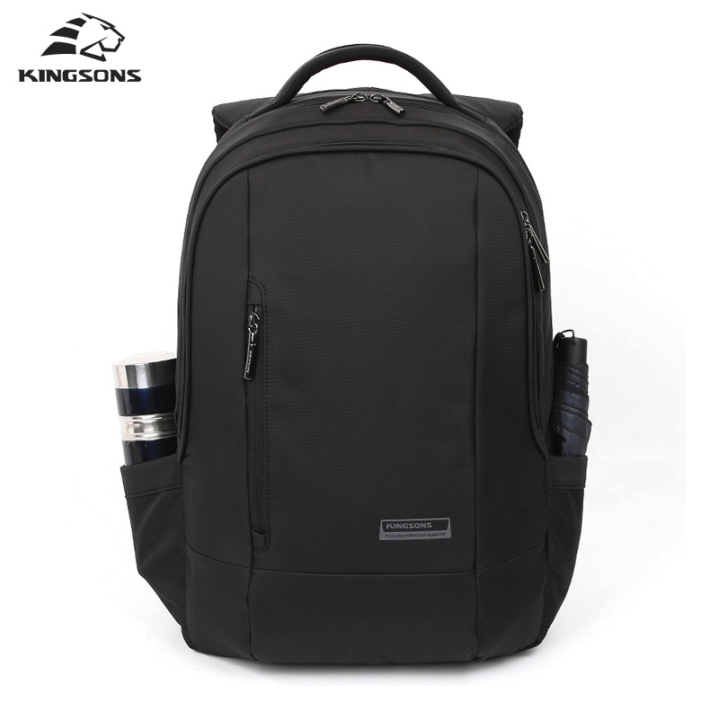 Kingsons School Bag for Teenagers Boys Black Business Men Backpack 15.6 inch Laptop Computer Backpack Male Daily Rucksack Men kingsons 2017 large capacity 15 6 inch laptop backpack men business bag women school travel rucksack high quality daily pack