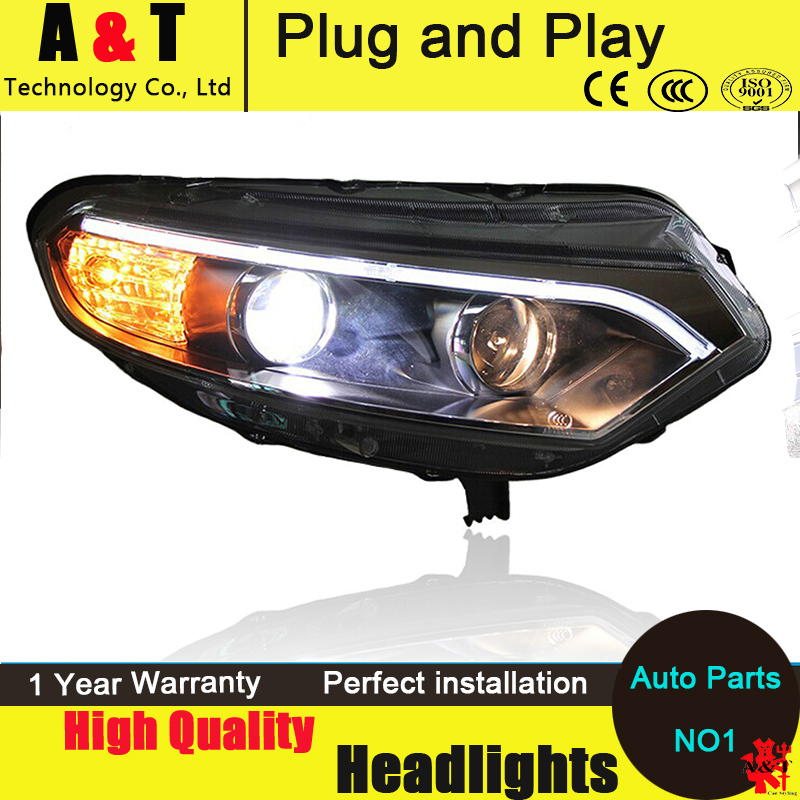 Auto Lighting Style LED Head Lamp for Ford Ecosport led headlight assembly 2012-2014 cob signal led drl H7 with hid kit 2pcs. шапочка для плавания arena polyester  цвет  темно синий