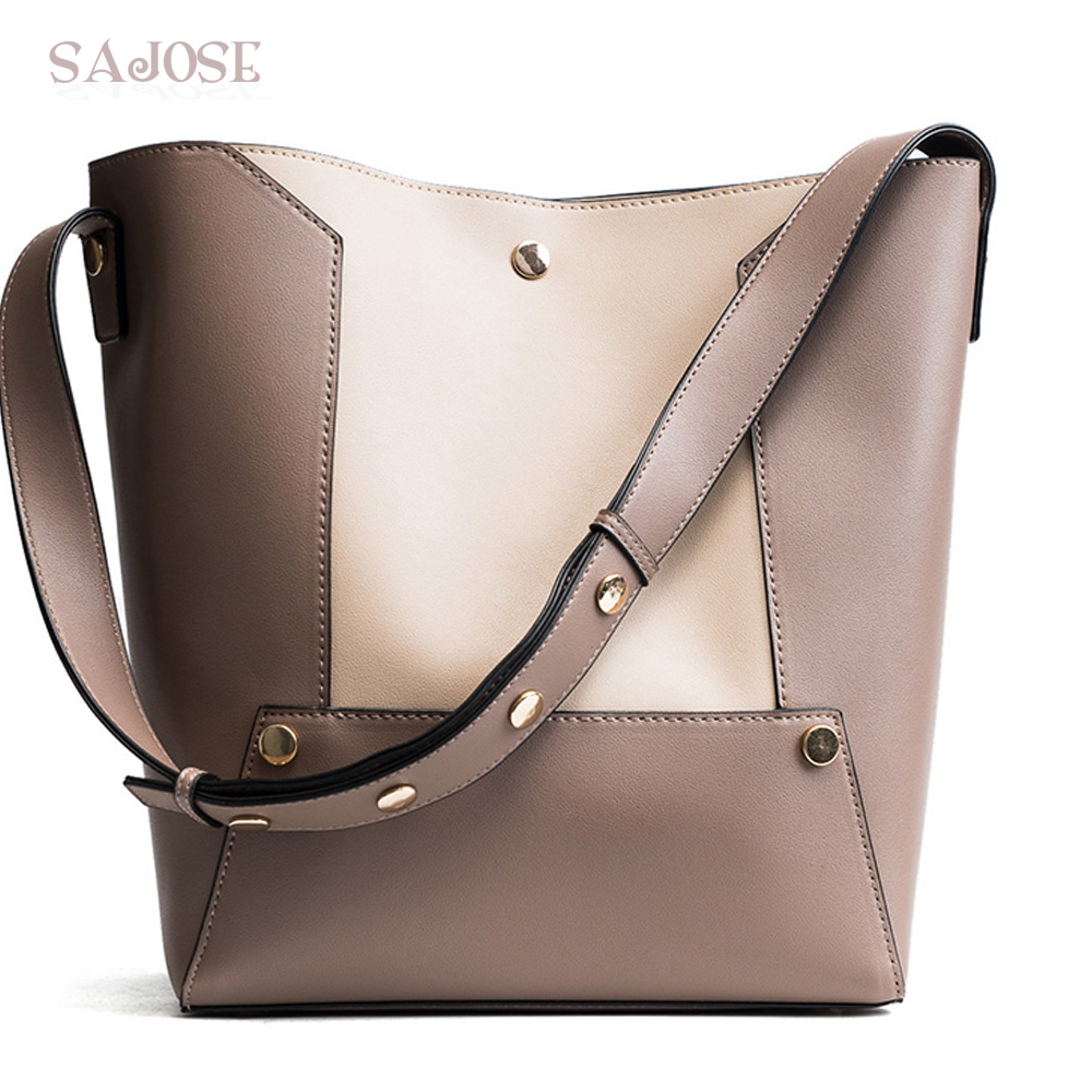 Women Fashion Tote Bag Pu Leather Bags For Lady Vintage Patchwork Bucket Shoulder Messenger Bag large Bolsos Mujer DropShipping women bucket bag package fashion bolsa feminina casual soft clutch ladies leather shoulder bags tote messenger bolso mujer 2017