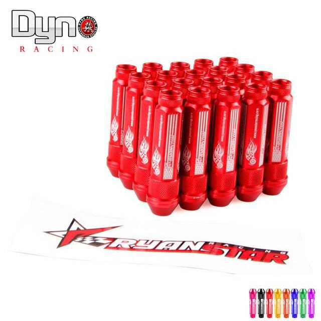 DYNO New Product auto RYANSTAR wheel lug nuts High Quantity Length 92MM  12*1.5 aluminum 20pcs lug nuts