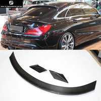 3pcs/set W117 CLA 250 Carbon Fiber Rear Spoiler Wings For Mercedes Benz W117 CLA250 13 15
