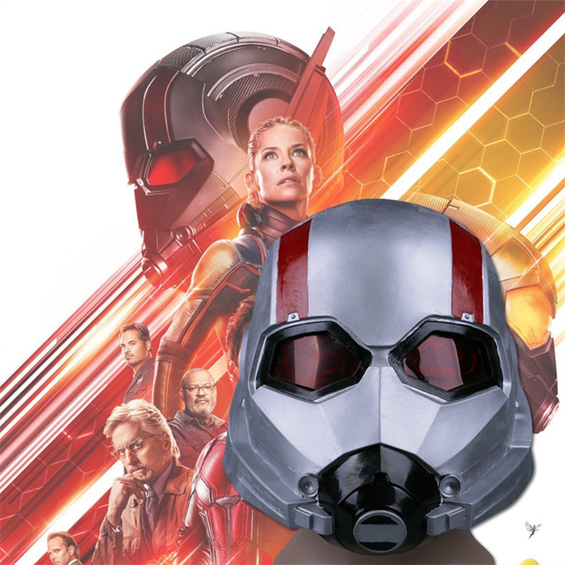 2018 Newe Movie Antman 2 Ant Man and the Wasp Mask Cosplay WASP Latex Masks Hope Van Dyne Helmets for Halloween Party Props