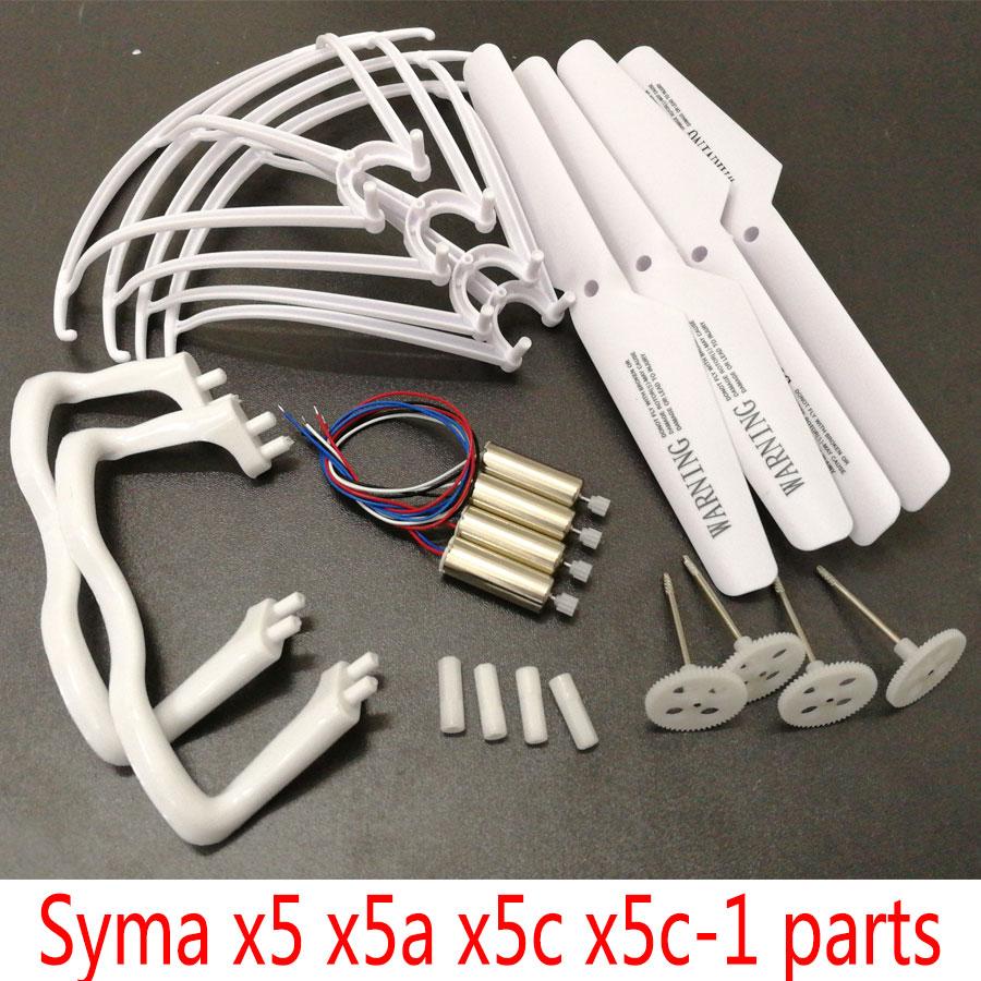 SYMA X5C X5C-1 RC Drone piezas de repuesto Motor engranaje principal propulsores aterrizaje trípode marco protector Kits