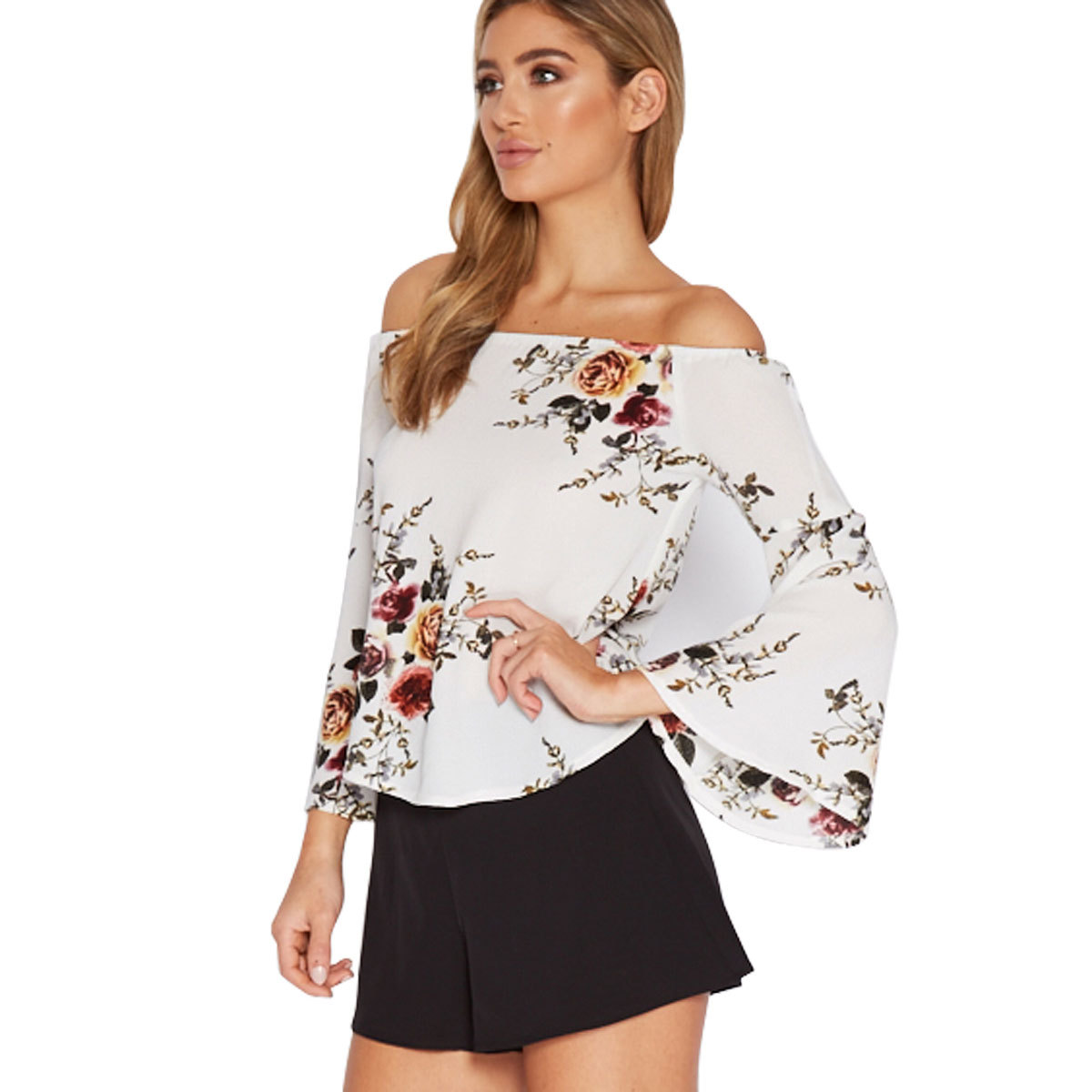 Strapless Top with Sleeves