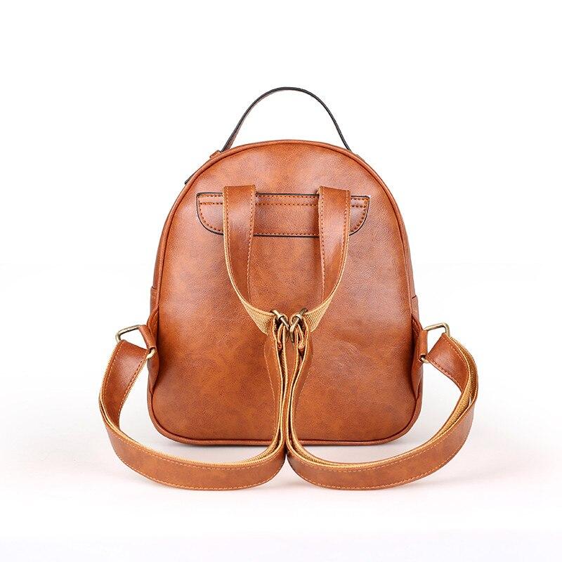 Black Women Backpacks Womens PU Leather Backpacks Female School Shoulder Bags For Teenage Girls Travel Back Pack