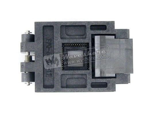 module QFP44 TQFP44 FQFP44 PQFP44 FPQ-44-0.8-17 Enplas IC Test Burn-in Socket Programming Adapter 0.8mm Pitch modules original brand new enplas qfp44 fpq 44 0 8 19 enplas ic test burn in socket block adapter 0 8mm pitch tqfp44 fqfp44 pqfp