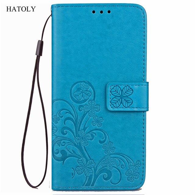 HATOLY pour étui portefeuille à rabat Nokia 6 étuis en cuir pour Nokia 6 support de couverture en Silicone souple sac de téléphone pour Nokia 6 2017 Capas ta-1021