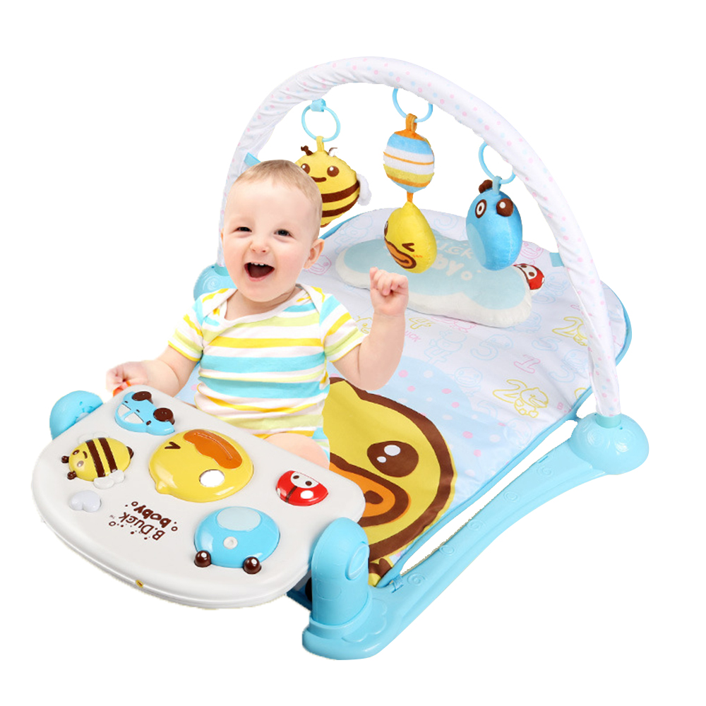 Baby Activity Center Us 36 9 2018 Baby Play Mat Kick Piano Gym Fun Activity Center Cushion Rattle Toy For Baby Boy Girl 36 Months Yellow In Play Mats From Toys
