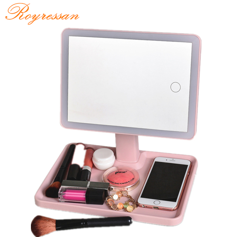 LED Touch Screen Makeup Mirror Professional Vanity Mirror Lights Health Beauty Adjustable with Big storage spaceLED Touch Screen Makeup Mirror Professional Vanity Mirror Lights Health Beauty Adjustable with Big storage space