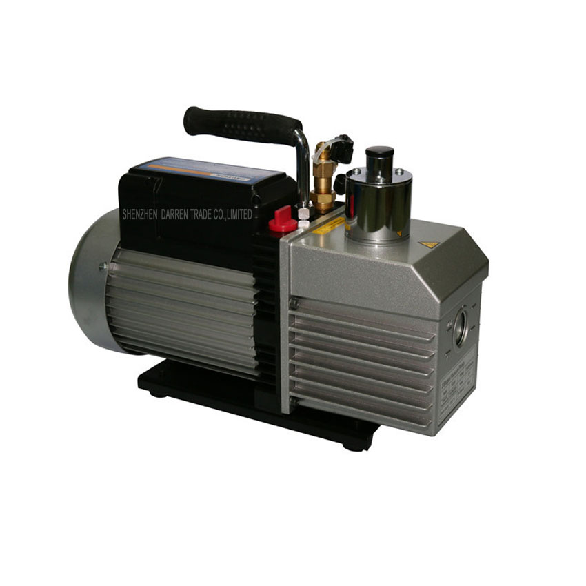 2PC 100% Brand New and High Quality Dual voltage vacuum pump 110V-220V 250W Dual-frequency two-stage with 1L
