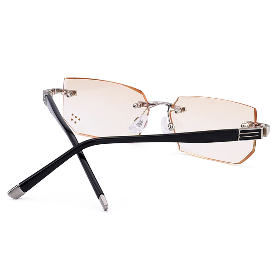 b4b5ce29731 Fashionable Ultralight Rimless Reading Glasses Yellow Lens Anti Blu Ray  Computer Glasses Presbyopia Glasses+1.0 to +4.0-in Reading Glasses from  Apparel ...