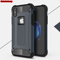 Case For iPhone 6 6s 7 8 Plus 5 5s SE Shockproof Armor Hard PC Silicone Case For iPhone XR X XS Max Soft TPU Phone Case Cover