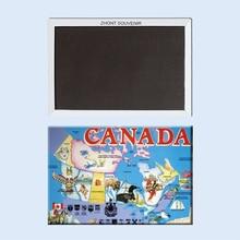 Decorative Fridge Magnets Canada Map Souvenir for Store 20199 Vintage Image