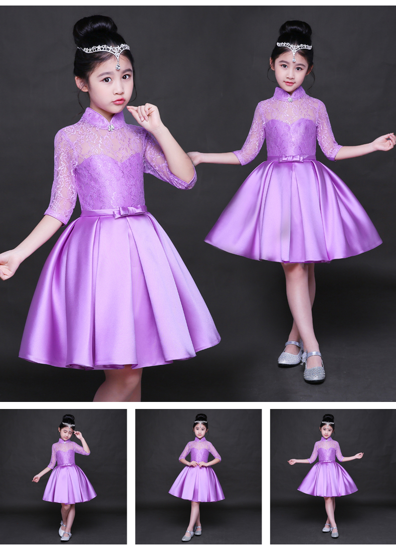 HTB17TB8SFXXXXaTapXXq6xXFXXXf - Baby Girl Kid Evening Party Dresses For Girl Wedding Princess Clothing 2017 New Solid Color Bow Moderator Dress Children Clothes