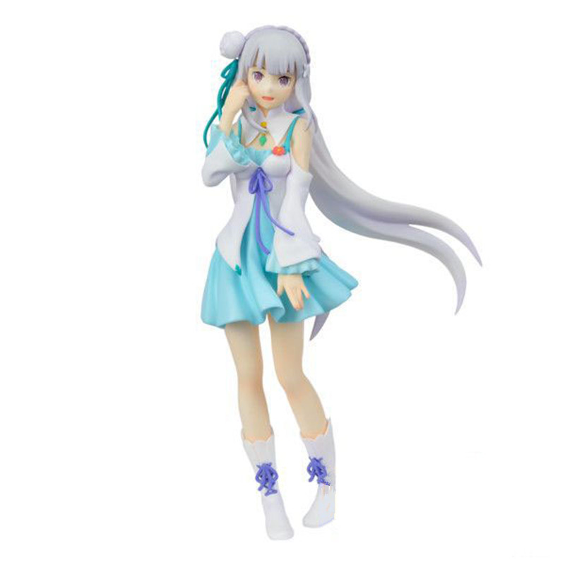 Re:life In A Different World From Zero Figure Emilia Standing Posture PVC Action Figure Japanese Anime Figures Action Toy L1185