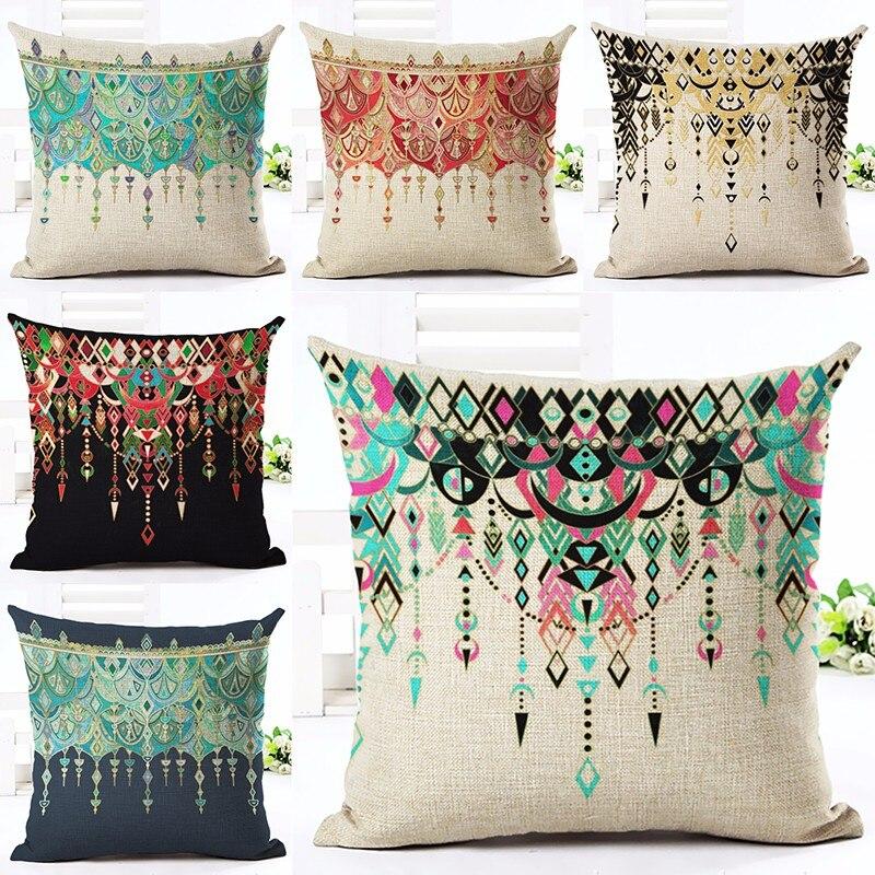 ①Vintage flores mariposa algodón Fundas de colchón decorativo ...
