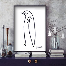 NEW Pablo Picasso Penguin Canvas Abstract Animals Minimalist Wall Art Kids Room Bar Office Home Decor  frame not included