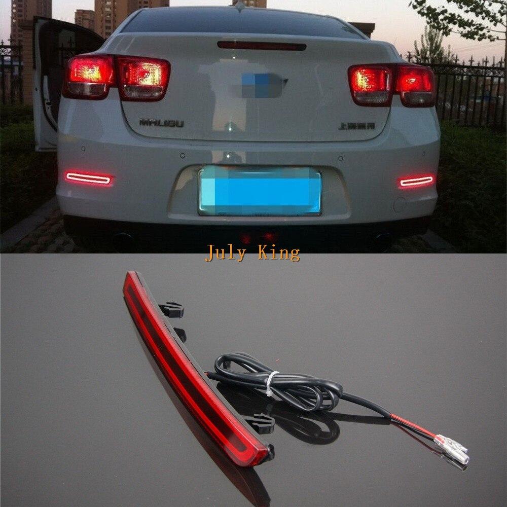 Varthion LED Light Guide Brake Lights Case for Chevrolet Malibu 2012~15, Brake Turn Signal Running Warning Lights,Three Function