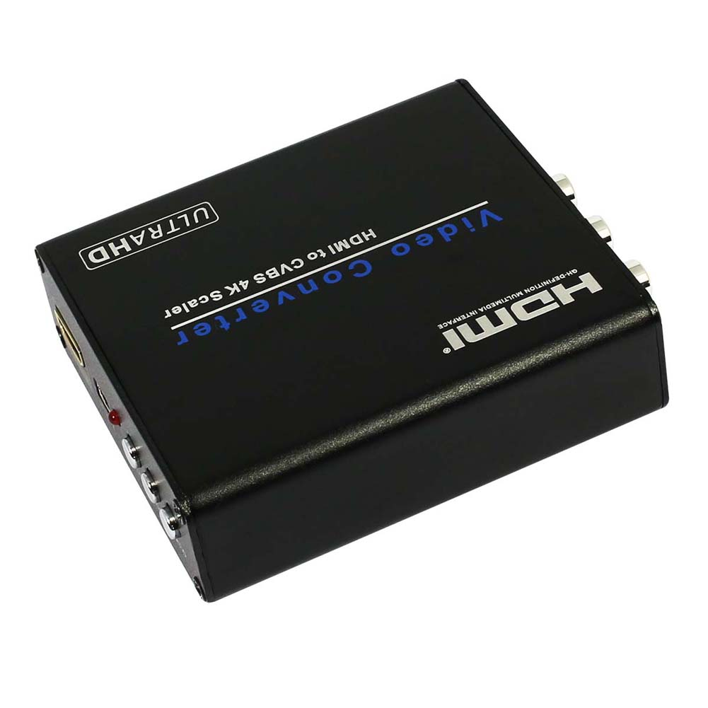 HDMI CVBS UHD 4K Scaler Video & Audio Converter מתאם HDMI 1.4 באיכות גבוהה HDMI אות רגילה CVBS על DVD STB-HDTV