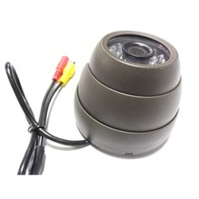 LSZ Spot Wholesale 720P HD Pixel Metal Hemisphere Gray Car Camera Monitoring Probe NTSC PAL System