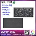 P6 внутренний светодиодный дисплей модуль 64*32 пикселей SMD rgb 384*192 мм led светодиодная вывеска рекламы светодиодные панели billboard такси топ diy комплекты