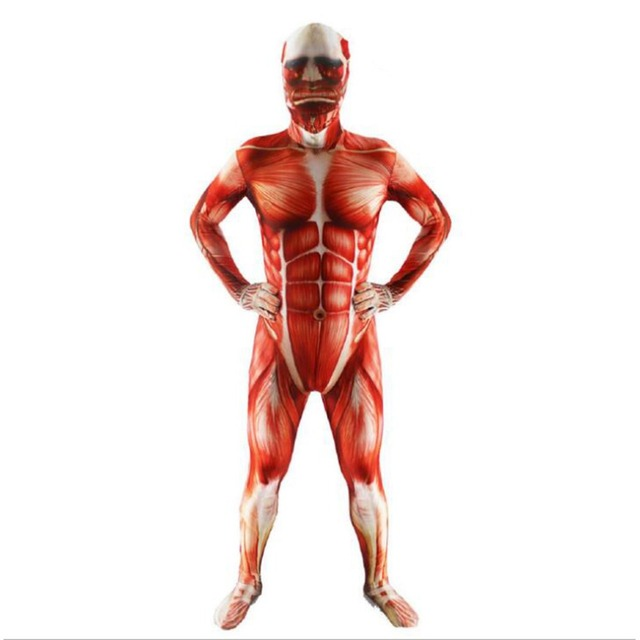 NEW Attack on Titan cosplay Costumes Spandex Skin Tight Suit Adult ...