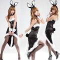Mulheres Trajes Chrismas Vestido Plus Size Sexy Cosplay Uniforme Sexy Traje Do Gato Catwoman Lingerie Erótica Traje Menina de Coelho Coelho
