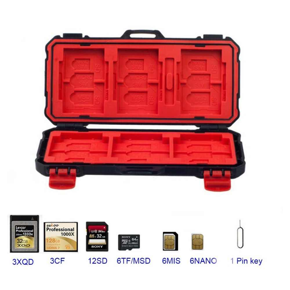 LYNCA Portable Memory Card Storage Case Holder SD/CF/MSD/XQD/TF/SDHC SDXC Micro SD Card Storage Box  Waterproof&Shockproof