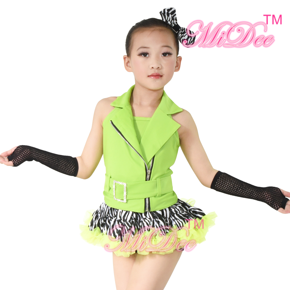 Jazz & Tap Dance Costumes Halter Zebra Ballet Tutu Hip Hop Dance Costumes For Girls