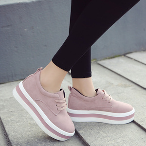 Image 5 - Women New Spring summer Faux Suede Shoes Casual Lace Up Sneakers Female Platform Shoes Ladies Flats Size 35 40 n969
