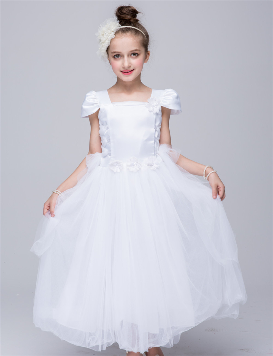 4c92384b9bf pink white flower girl dress european wedding dresses for kids 4 5 6 7 8 9  10 12 years old infant birthday tutu dress girls zq44