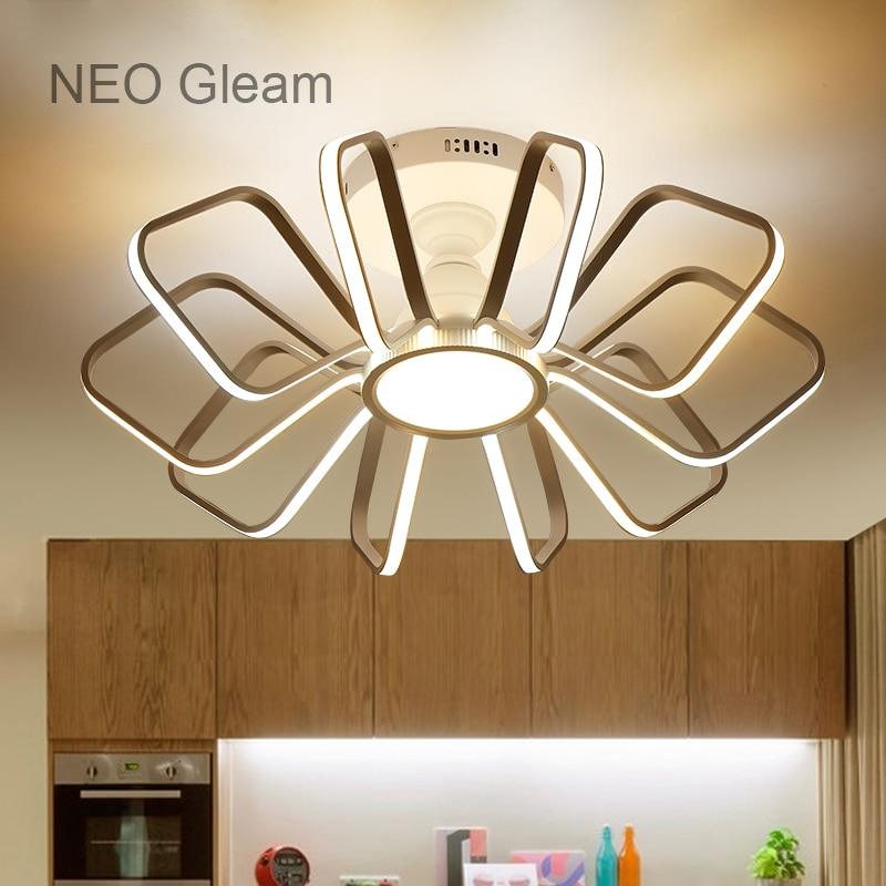 NEO Gleam Modern Led High Brightness Chandelier lights lamp for living room bedroom White Aluminum 85-265V chandelier fixtures цена