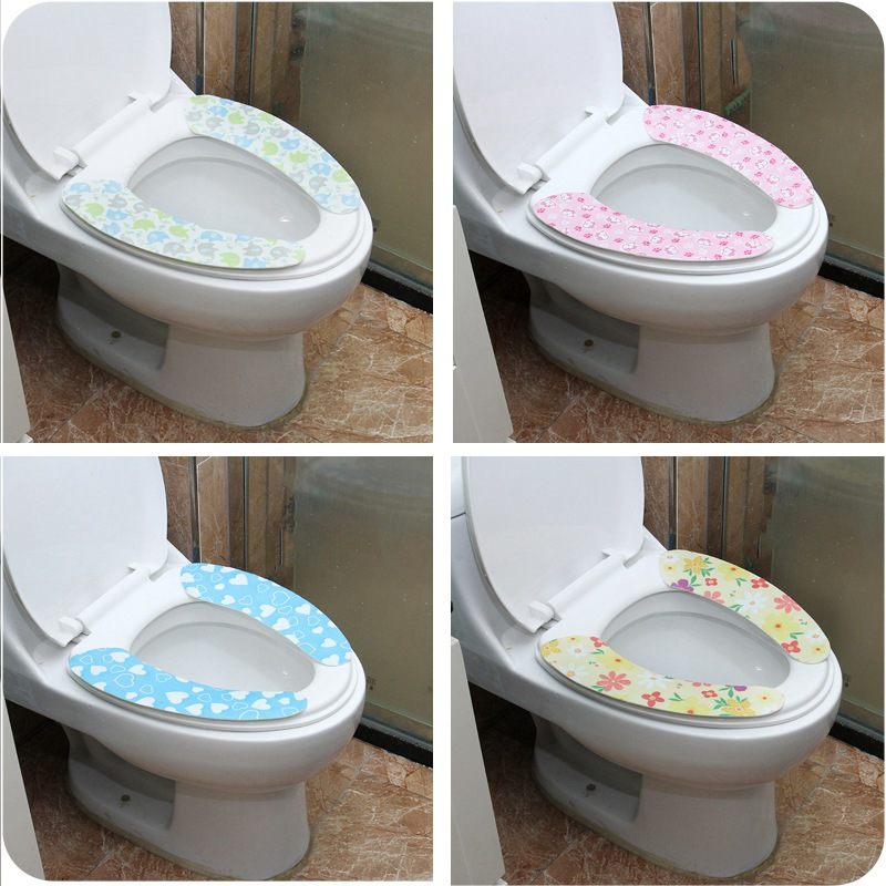 Floral Soft Comfortable Artificial Fiber Washable Bathroom Toilet Seat Cover Mat Lid Closestool Cloth Gute Bathroom Decoration