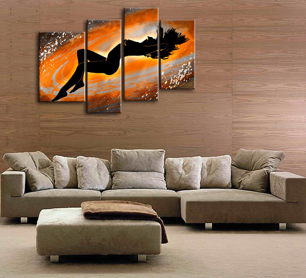 Painting For Bedroom aliexpress : buy four pieces oil painting on canvas modern