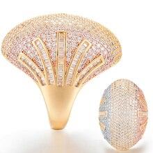 GODKI nowy luksusowy wisior z koroną owalne geometria Chic pierścienie dla kobiet ślub Cubic cyrkon zaręczyny dubaj Naija wesele Ring Finger