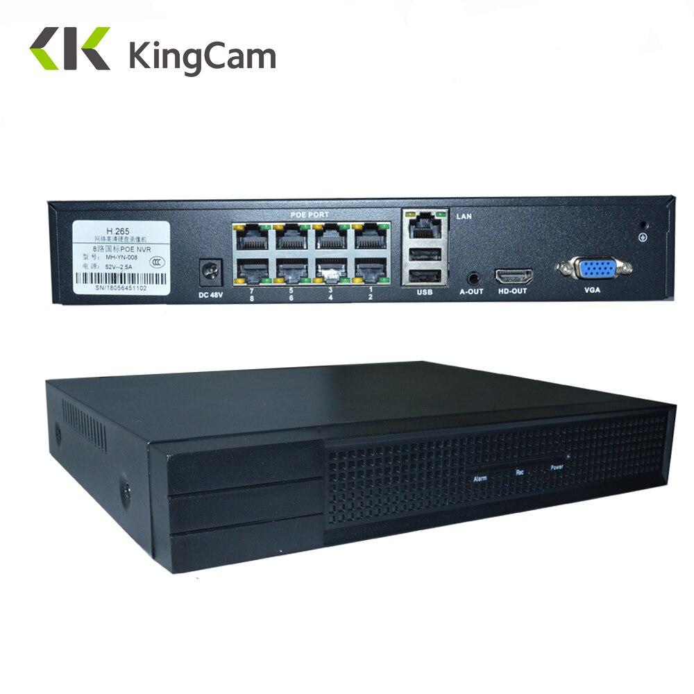 KingCam 4CH/8CH 1080 p 48 v 802.3af POE ONVIF Network Video Recorder NVR Sistema de CCTV Kit P2P Completo HD 2.0MP para a Câmera IP POE